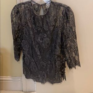 Milly lace overlay blouse and cami